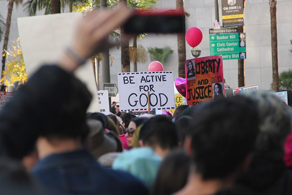 On The Ground At The Massive Women's March In LA