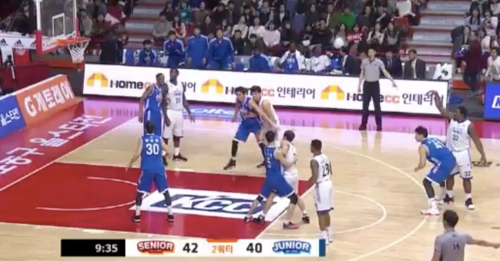 Two Korean Basketball Teams Bust Out A Truly Awesome Mannequin Challenge...Mid-Game