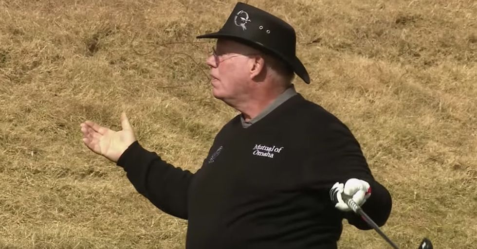 This AmateurGolfer Didn't Know He Sank A Hole-In-One On National TV...Until He Heard The Crowd