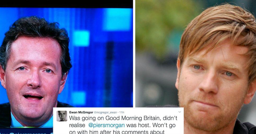 Ewan McGregor Cancels Piers Morgan Appearance After Women's March Comments
