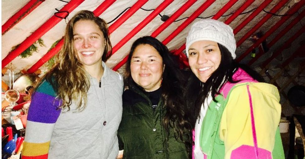 Ronda Rousey Took A Low-Profile Trip To Standing Rock, Offering Support And Supplies To Protesters