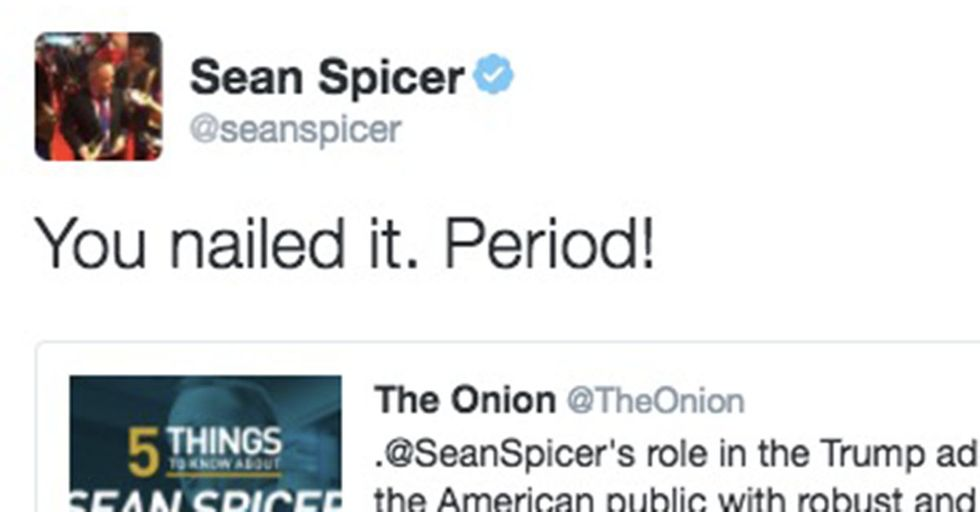 Sean Spicer Retweets An Onion Article That Says He Lies For A Living