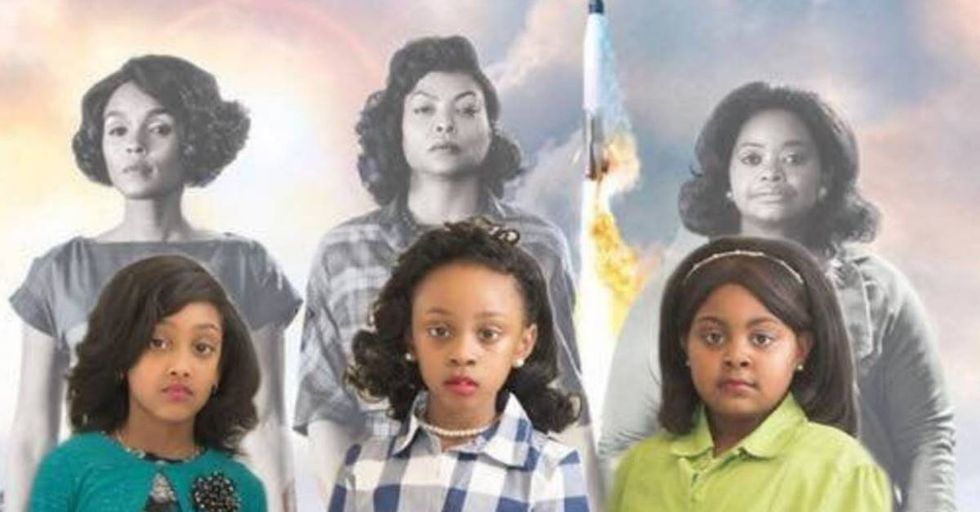 Teacher Recreates The 'Hidden Figures' Poster With Her Students For Black History Month