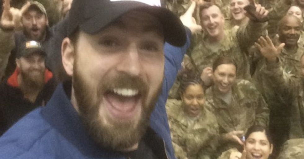 Chris Evans Acts The Part Of Captain America, Gets Political On Twitter