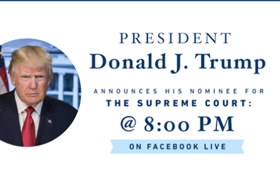 Watch President Donald Trump Announce Supreme CourtNominee Live