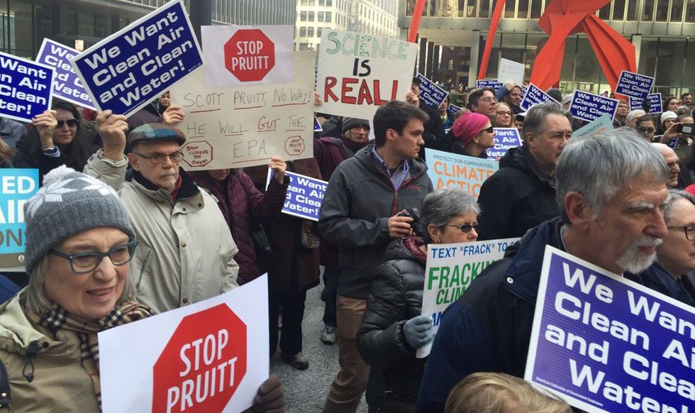 100 EPA Officials Turned Their Lunch Break Into A Rally To Protest Their New Boss