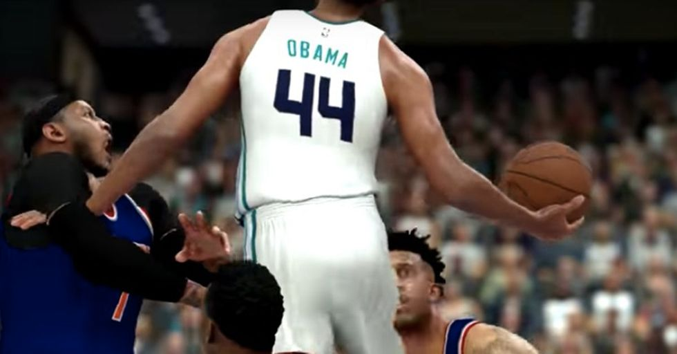 Barack Obama Is Living His Best Retired Life As A Video Game Basketball Player