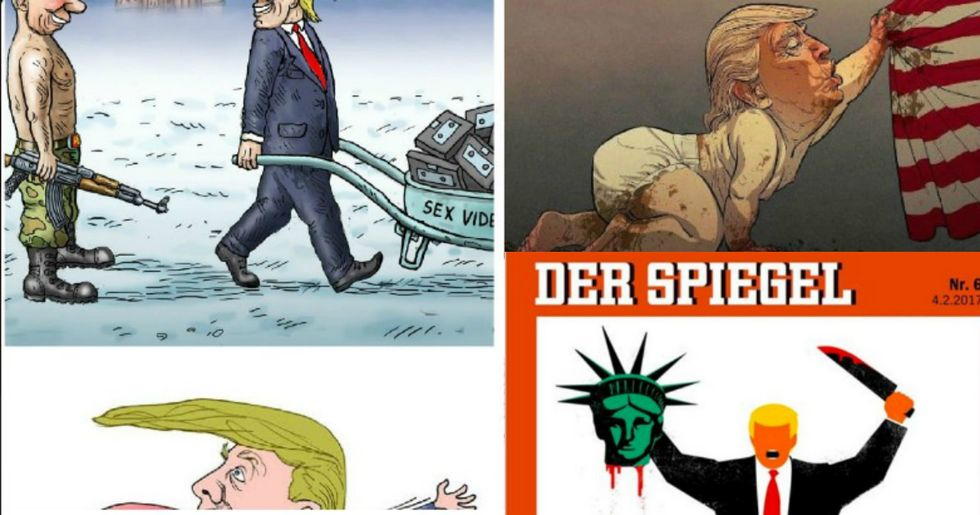 How The World's Political Cartoonists See Trump