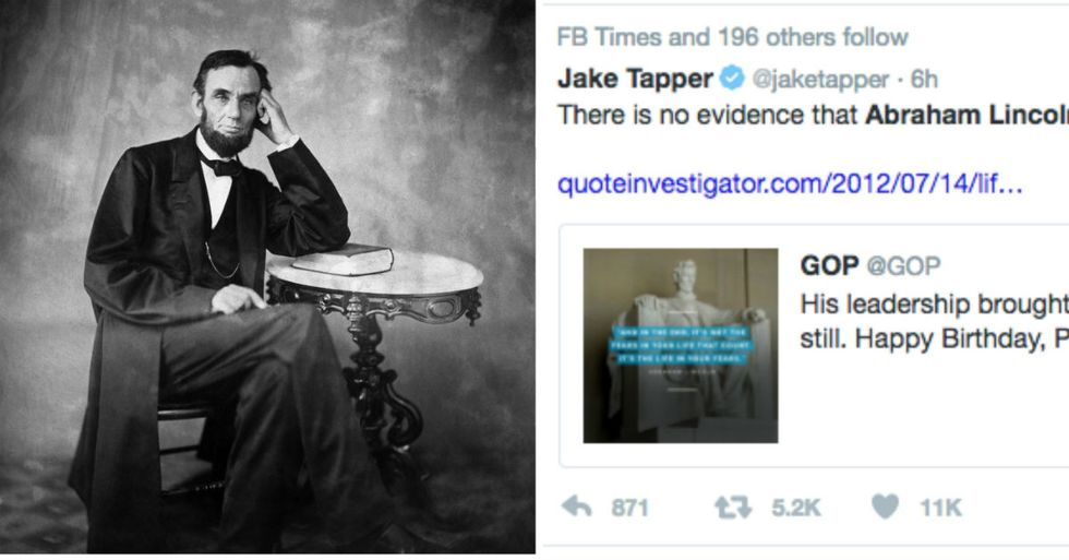 Republicans Ridiculed After Tweeting Fake Lincoln Quote