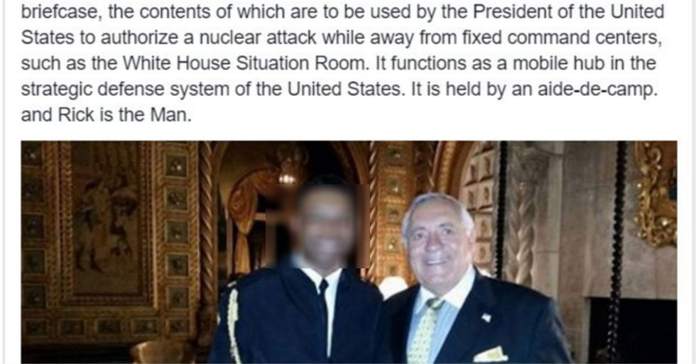 Guest At Trump's Mar-A-Lago Club Posts Photos With Nuclear 'Football' Briefcase