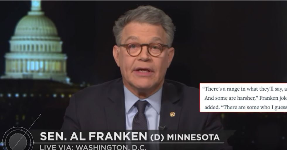 Franken Says Republican Leaders Privately Tell Him Trump 'Not Right Mentally'