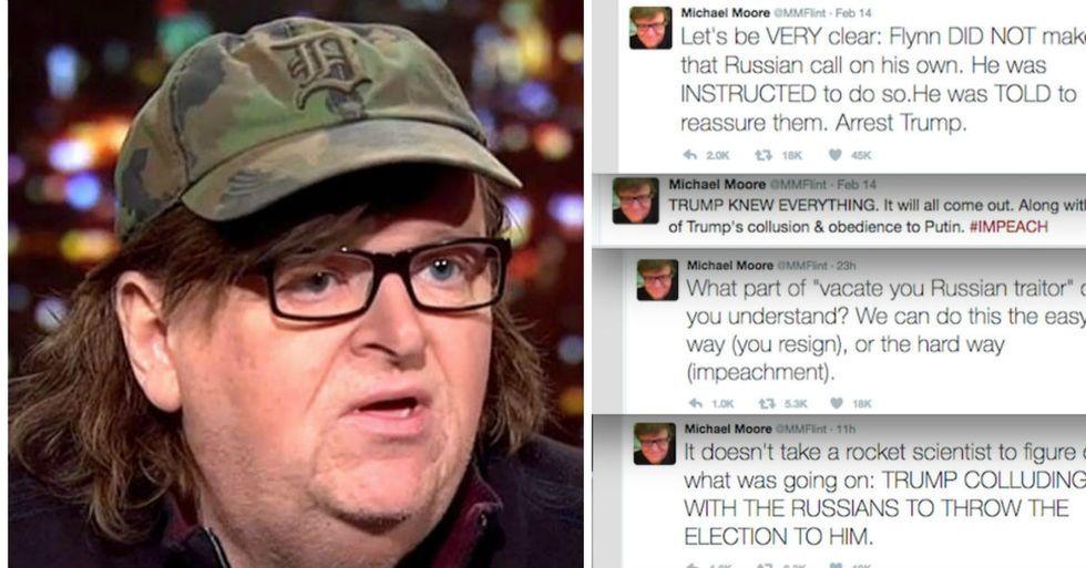 Michael Moore Calls For Trump's Arrest