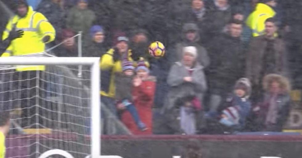 Random Act of Sport: Quick-Thinking Soccer Fan Saves Kid From Wayward Kick