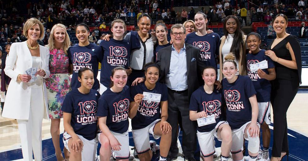 UConn Women's Basketball Team Records 100th Straight Win
