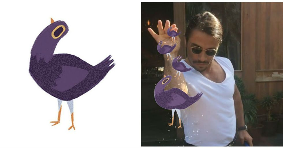 Why You're Seeing This Annoying Purple Bird All Over Your Facebook Page