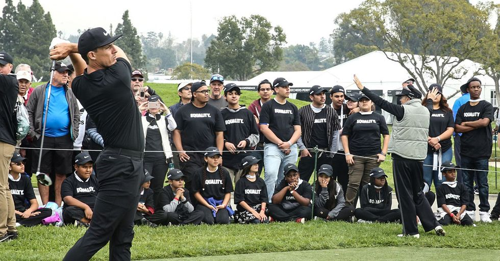 Nike Golfers Wear All Black In Support Of The Company's Equality Message