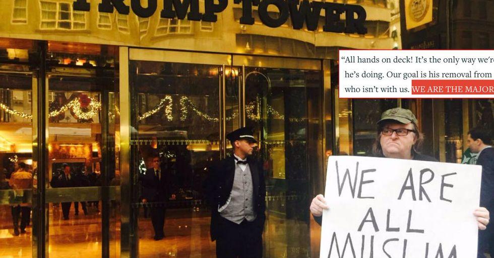 "Michael Moore Creates ""Trump Resistance Calendar"""