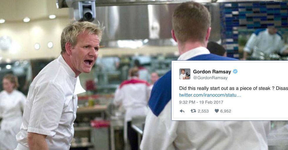 Gordon Ramsay's Reviewing People's Cooking On Twitter...And He's Not Pulling Punches