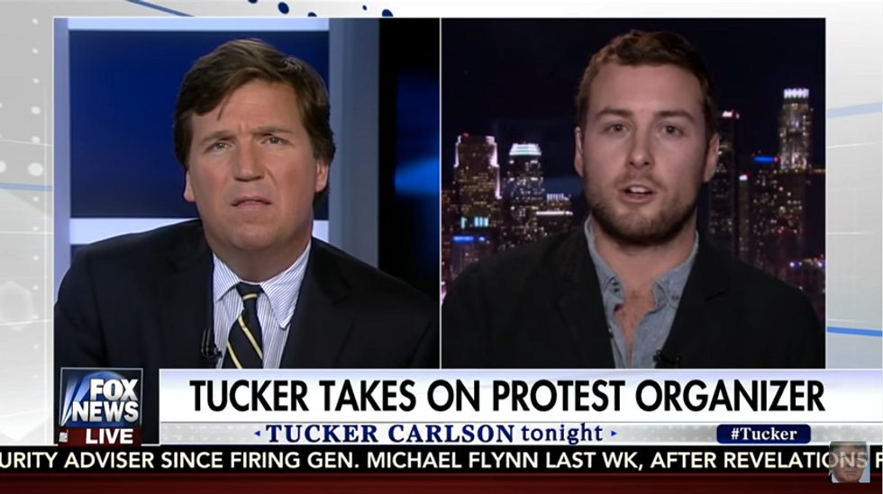 Tucker Carlson Caught Falsely Identifying Actor As 'Protest Organizer' On His Show
