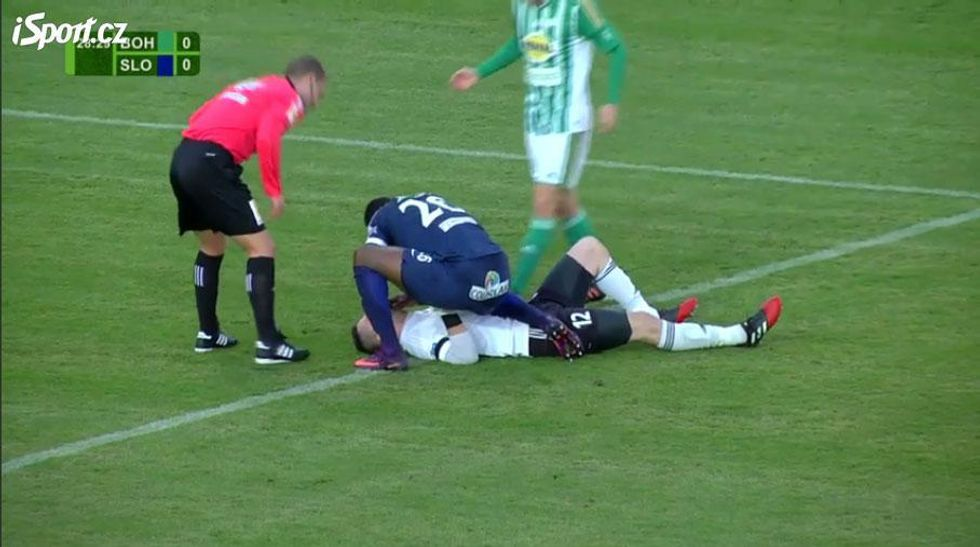 Soccer Player Saves The Life Of Choking Opponent During Match