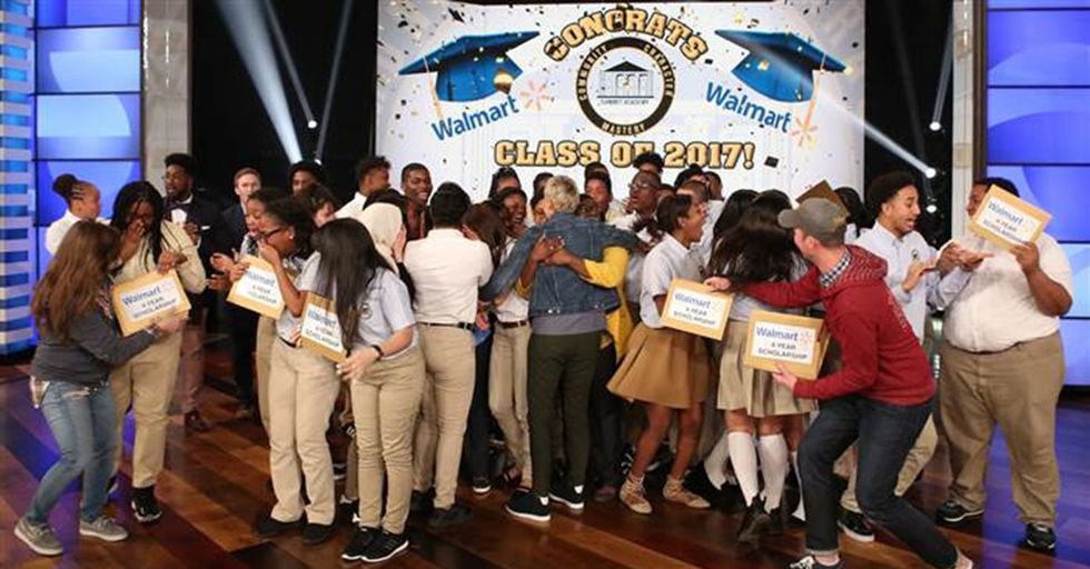 Ellen Just Gave College Scholarships To An Entire Class Of High School Seniors