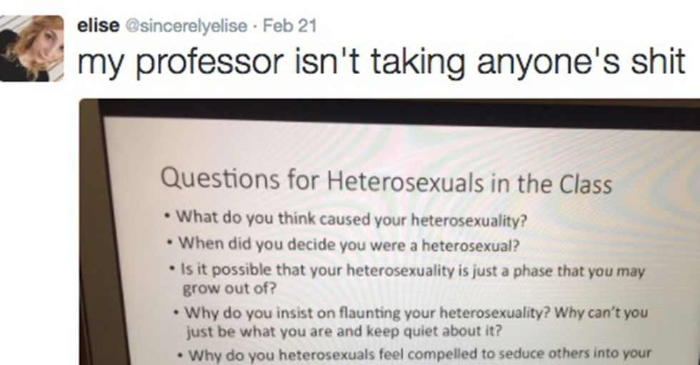 Teacher's Quiz On Heterosexuality Highlights The Ridiculous Line Of Thinking Homophobes Use