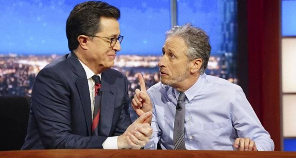Jon Stewart Points Out The Two Words Donald Trump Always Uses When He Lies