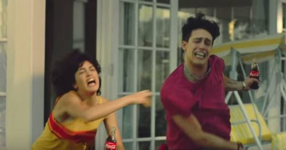 New Coke Ad Shows A Brother and Sister Fighting Over The Pool Boy