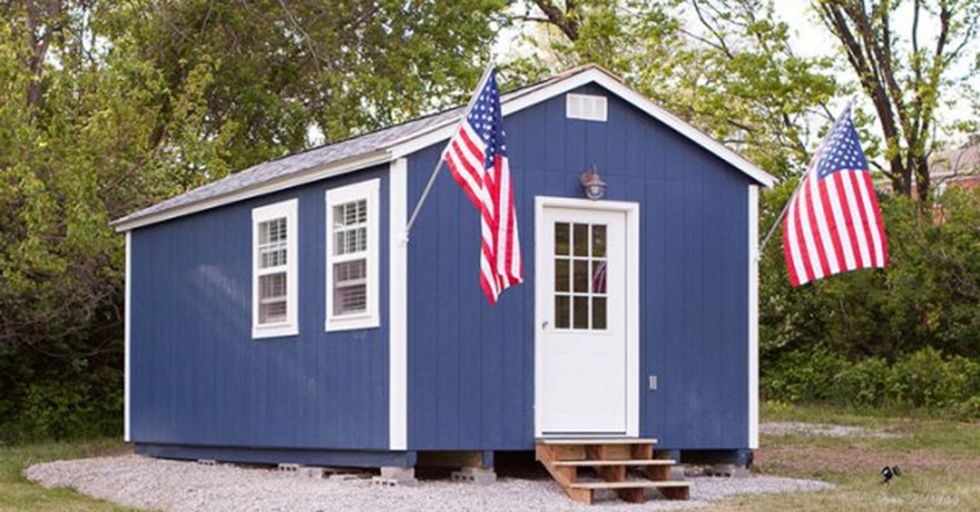 Volunteers constructed this entire community to house homeless veterans.