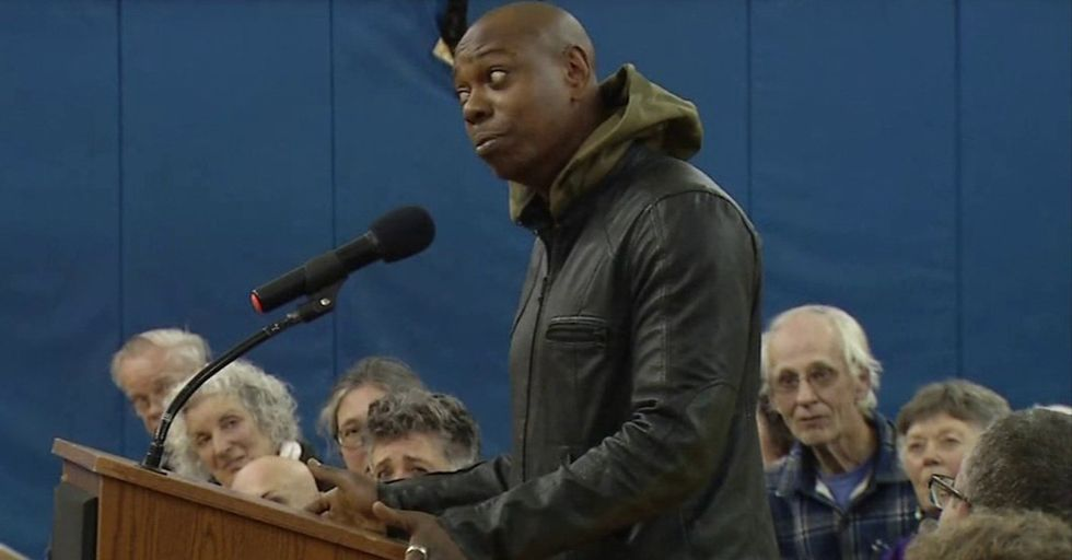 Comedian Dave Chappelle Attends Town Hall To Offer Sincere Thoughts On Police Violence