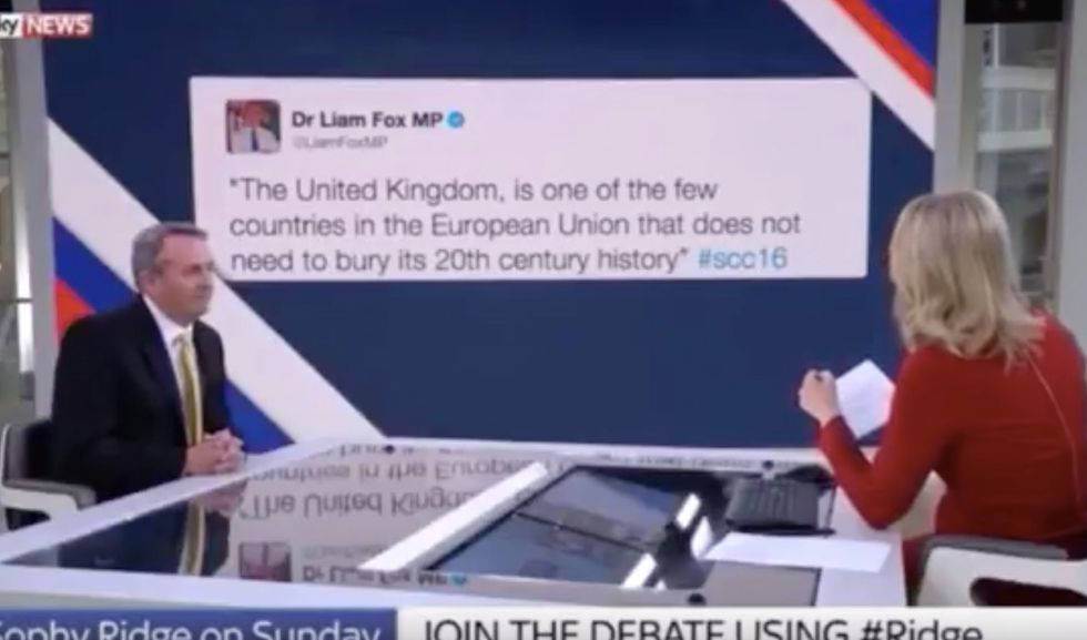 Politician Denies Writing Tweet That Is Literally Projected Behind Him On Live TV