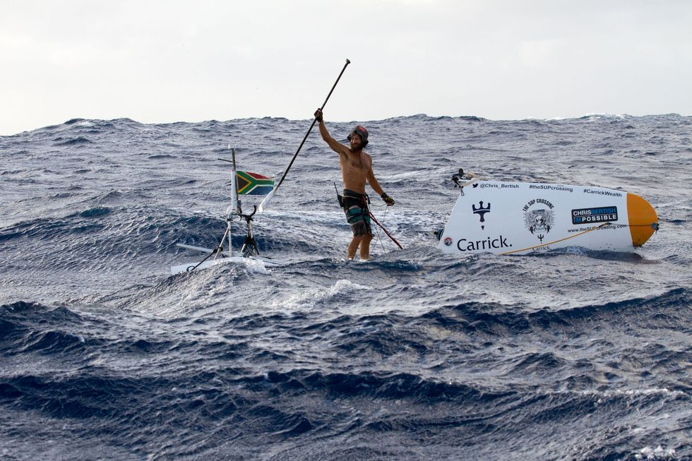 Chris Bertish's Wild Journey Across the Atlantic On A Paddleboard
