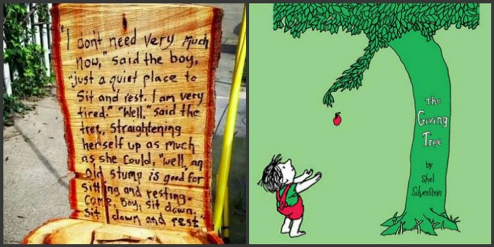 Neighborhood Creates Their Own Magical 'Giving Tree' After Someone Cut It Down To A Stump