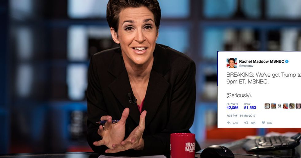 Rachel Maddow Says She Has Trump's Tax Returns