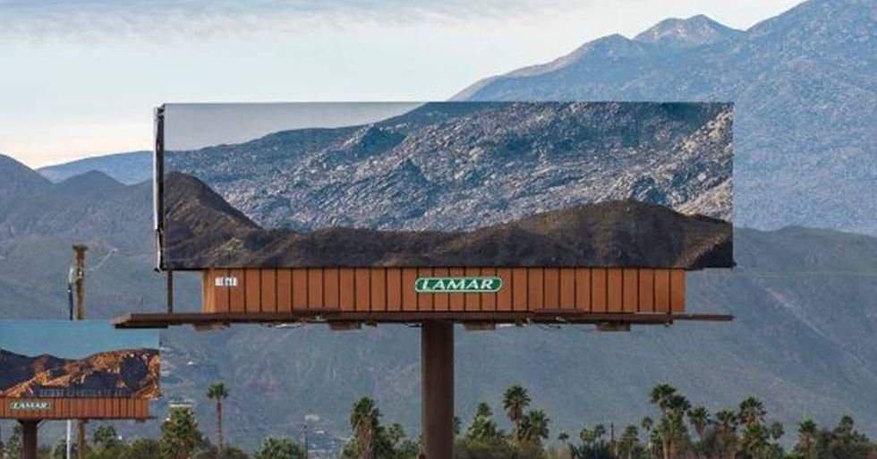 Artist Jennifer Bolande Replaces Billboards With Photos Of The Landscapes They're Blocking
