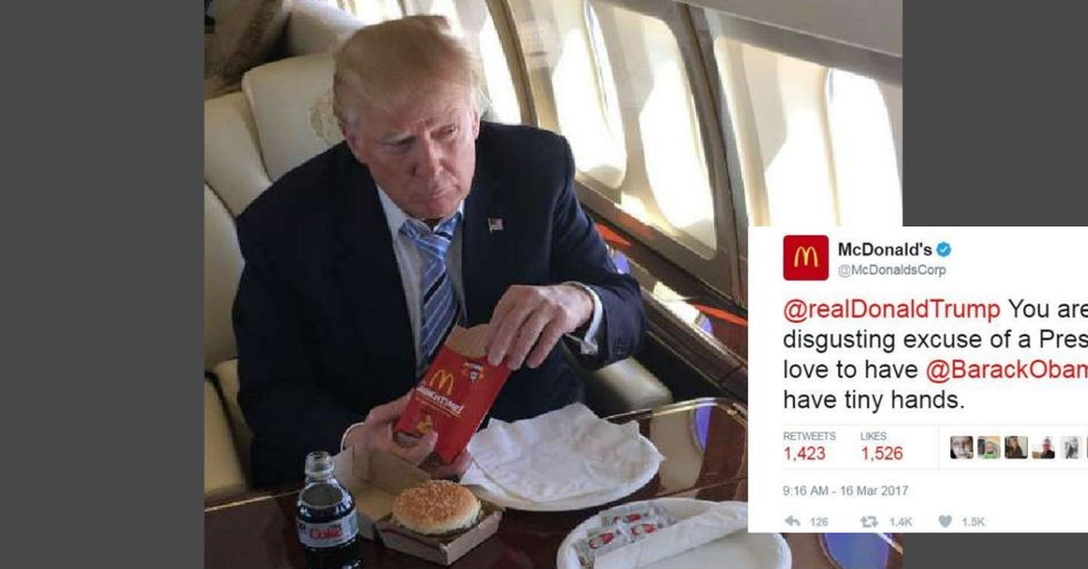 McDonald's Calls Trump 'Disgusting Excuse For A President' In Blistering Tweet
