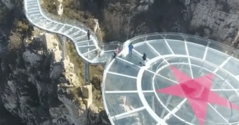 Even The Photos Of China's Newest Sky-High Glass Bridge Will Get Your Palms Sweating