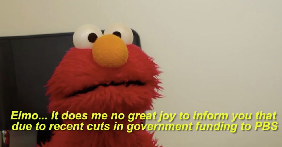 Elmo Learns He's A Casualty Of Trump's Budget Cuts In This 'Sesame Street'Parody Video