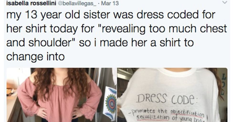 To Protest Her School's Sexist Dress Code, A Teen Girl Made This Bold Fashion Statement