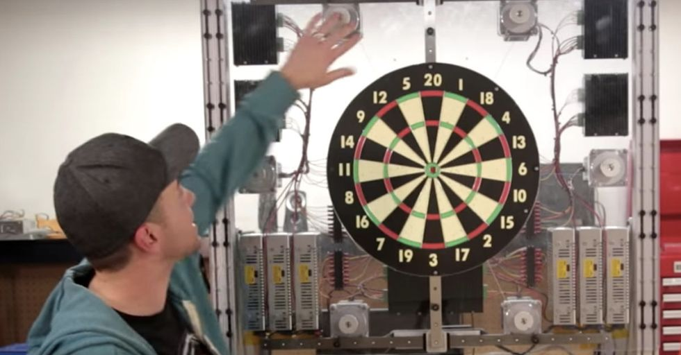A NASA Engineer Invented A Brilliant Moving Dart Board That Makes Every Toss A Bull's-Eye