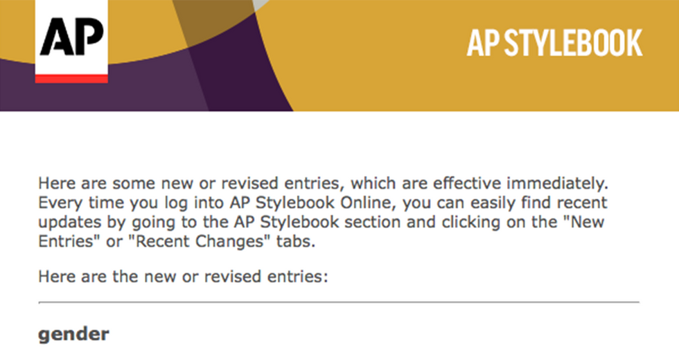 The AP Has Announced The Adoption Of 'They' As A Singular Pronoun For Nonbinary Subjects