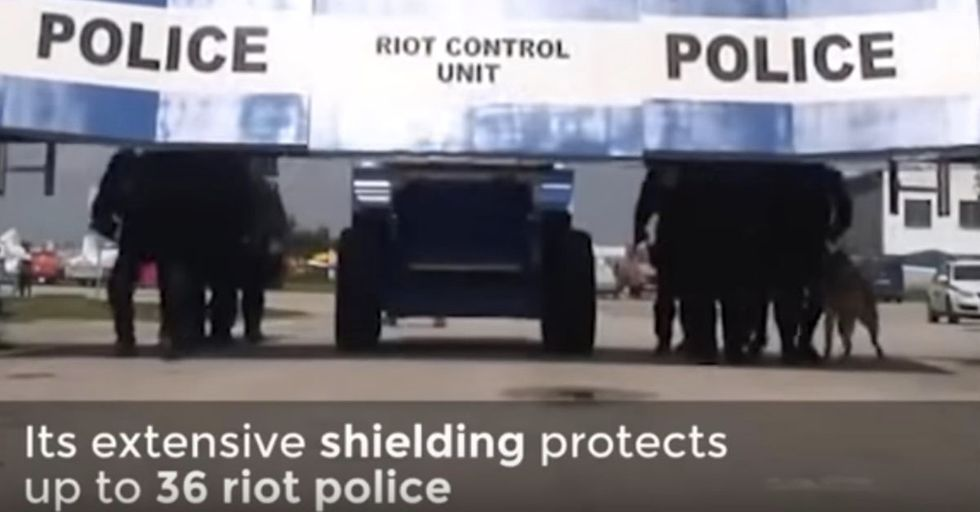 This High-Tech Riot-Busting Vehicle Looks Like Something Out Of A Dystopian Nightmare