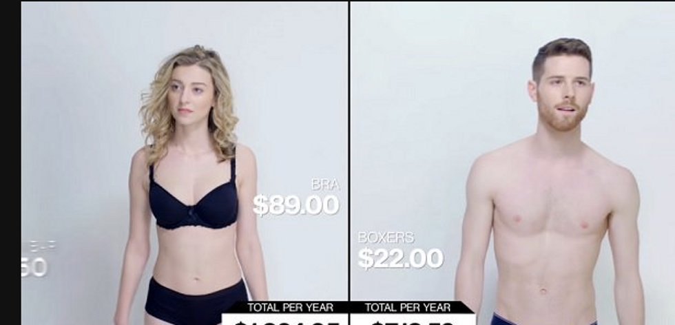 See Exactly How Much More It Costs To Be A Woman Vs. A Man