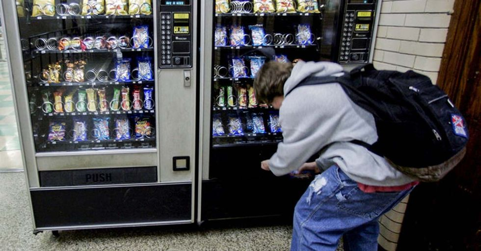 This Clever Vending Machine Will Punish You For Buying Junk Food