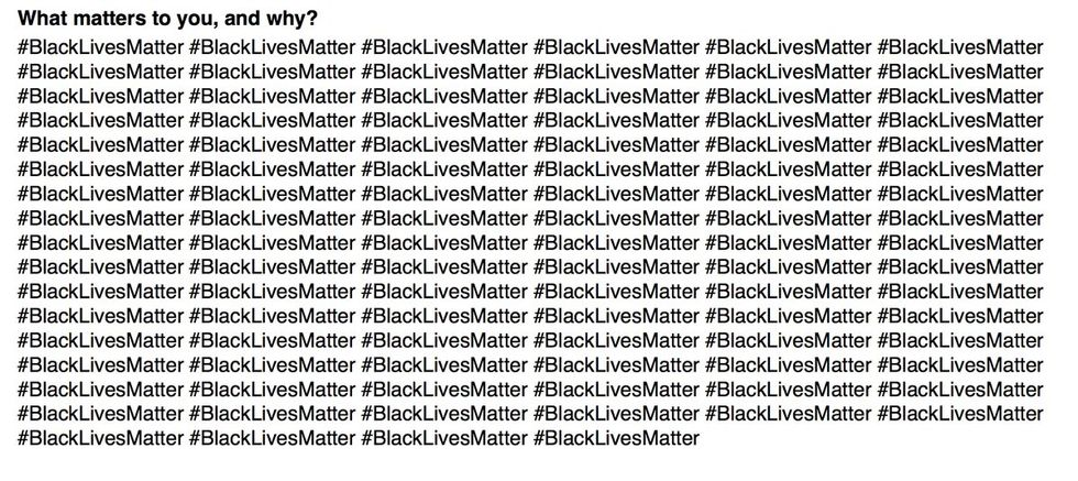 This Student Wrote #BlackLivesMatter 100 Times On His College Application—And Got In