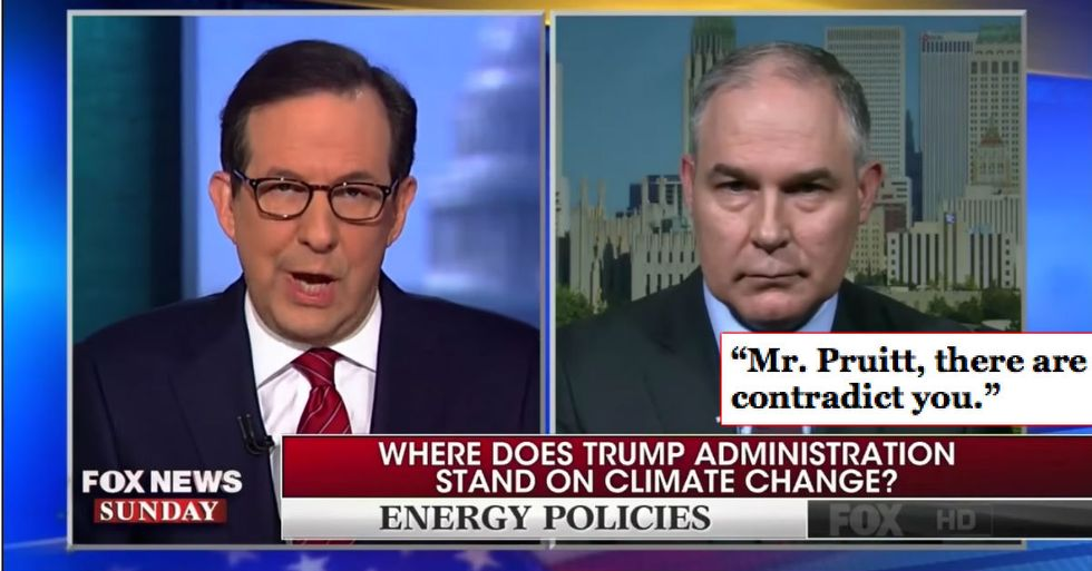 Trump's Climate Change Denier Caught Completely Off Guard After He's Called Out In Fox News Interview