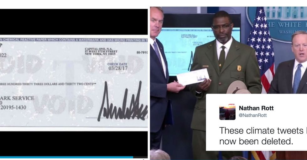 Trump Just Donated First Presidential Paycheck To His Least Favorite Government Agency