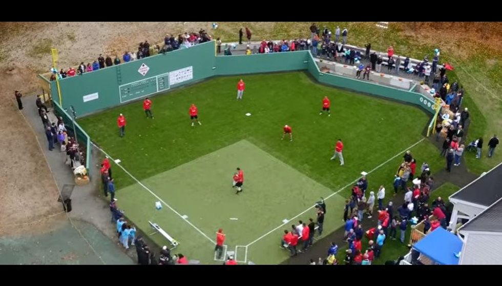 The Make-A-Wish Foundation Outdid Themselves By Transforming This Boy's Backyard Into Fenway Park