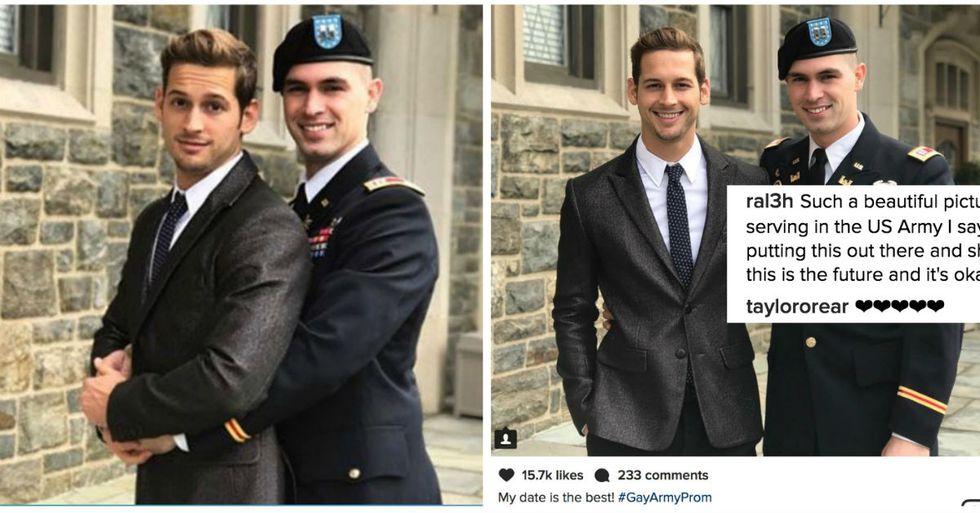 Gay Couple's Army Prom Photos Light Up Social Media