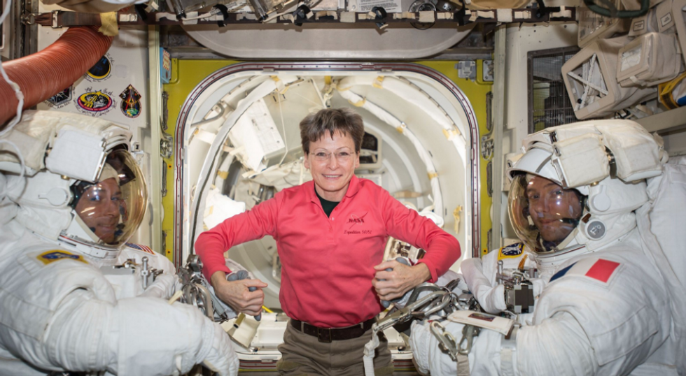Record-Breaking Female Astronaut Defies Odds Yet Again